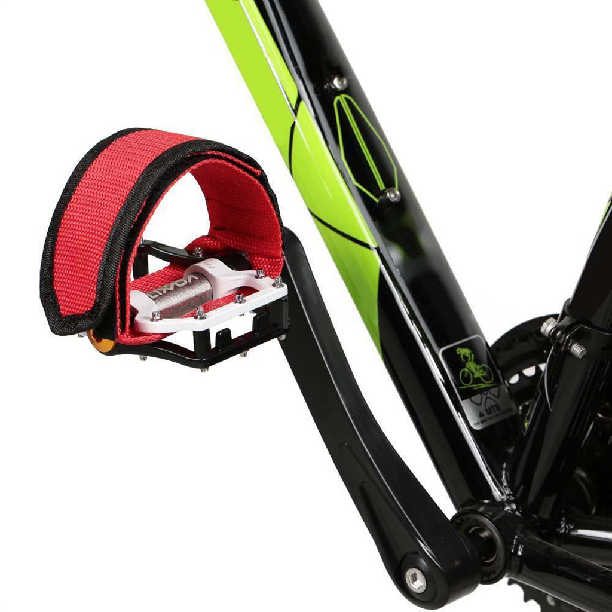 2pcs Fixed Gear Bike Bicycle Adhesive Straps Pedal Toe Clip Strap Belt Black US