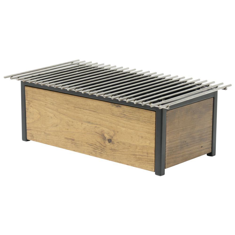 "Reclaimed Wood Rectangular Full Size Alternative Chafer - 12 3/4 L x 12"" W x 7 1/8 H"