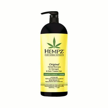 Hempz Original Herbal Shampoo for Damaged & Color Treated Hair 33oz