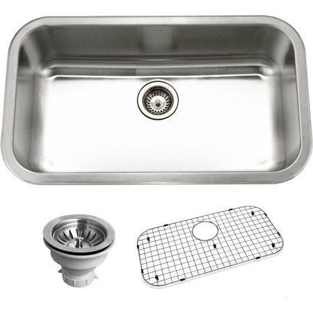 Houzer BSG-3018 Belleo Series Top-Mount Large Single-Bowl Kitchen Sink