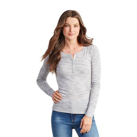 Aeropostale Juniors Ribbed Henley Shirt ()