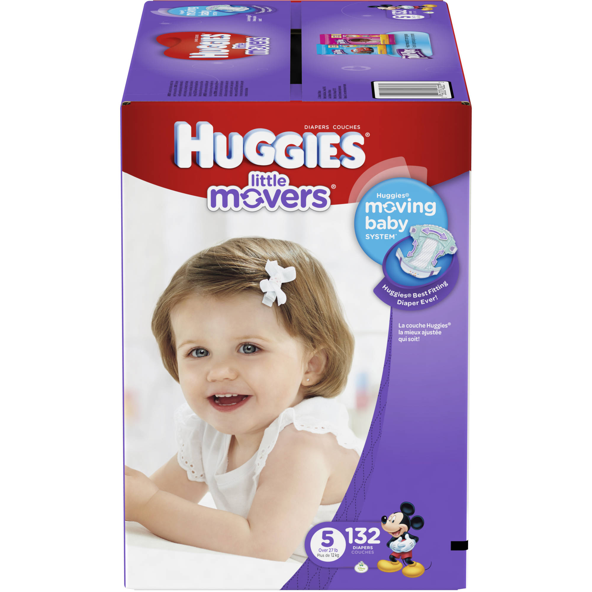 Huggies Little Movers Diapers, Size 5 (Choose Diaper Count)