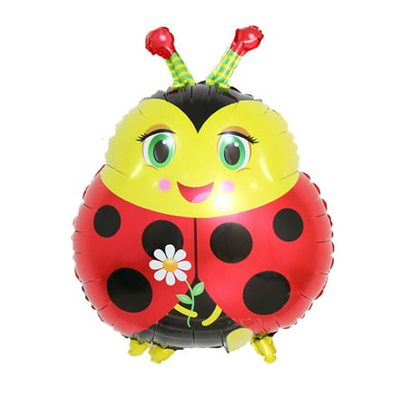 Unique Bargains Family Foil Ladybug Design Inflation Balloon Festival Party Decoration 19 - Halloween Balloon Festival Phoenix
