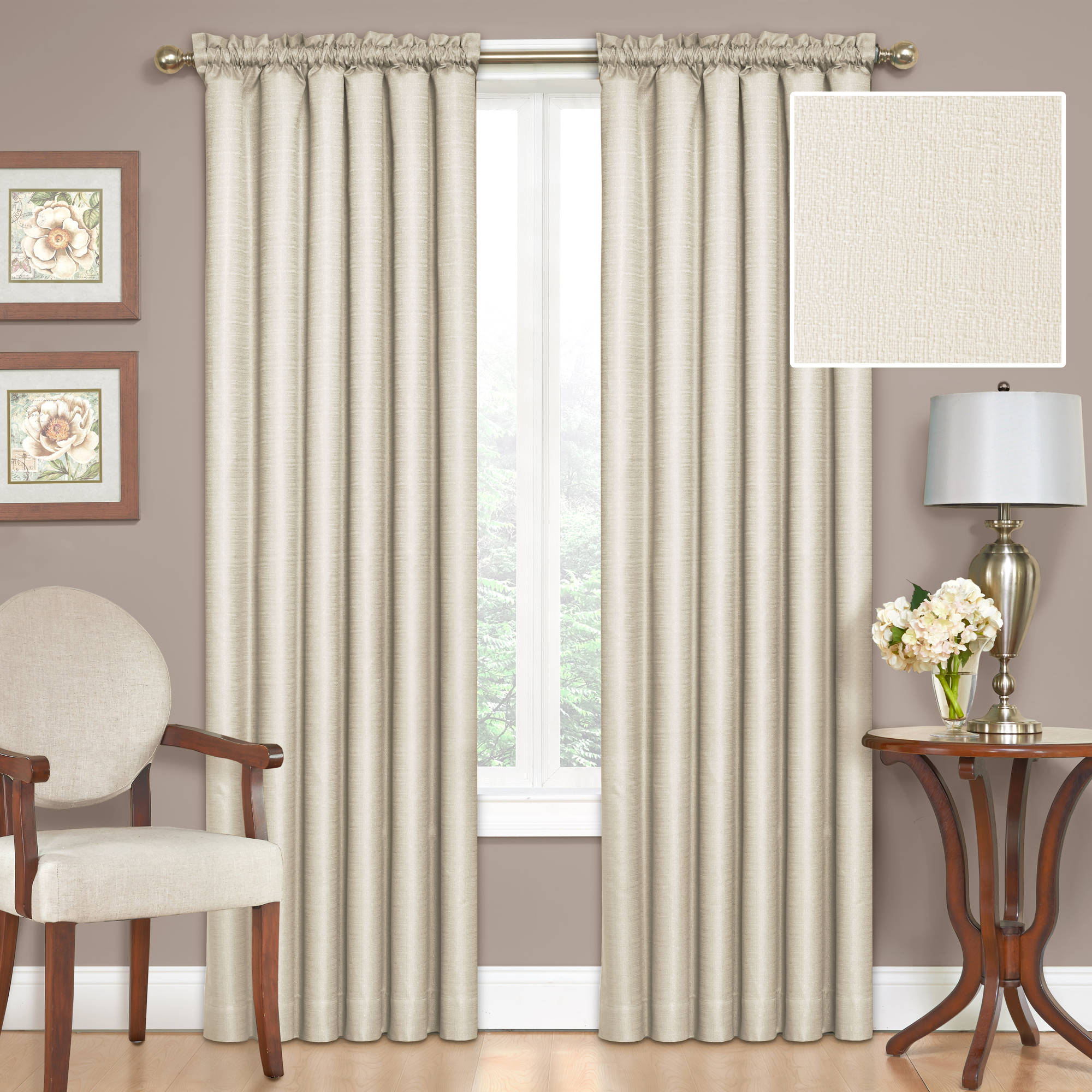 Eclipse Samara Blackout Energy-Efficient Thermal Curtain Panel Available In Multiple Sizes And Colors