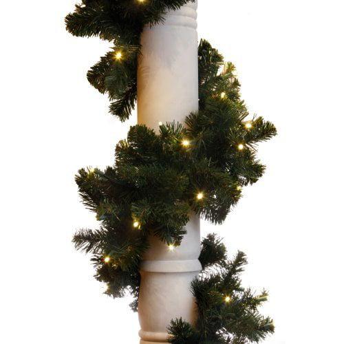 9 ft. Sierra Fir Garland - 100 LED Concave Bulbs