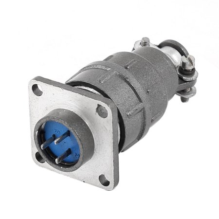 Aviation Plug Male Panel Mounted Metal Connector 16mm 3-Pin  250V