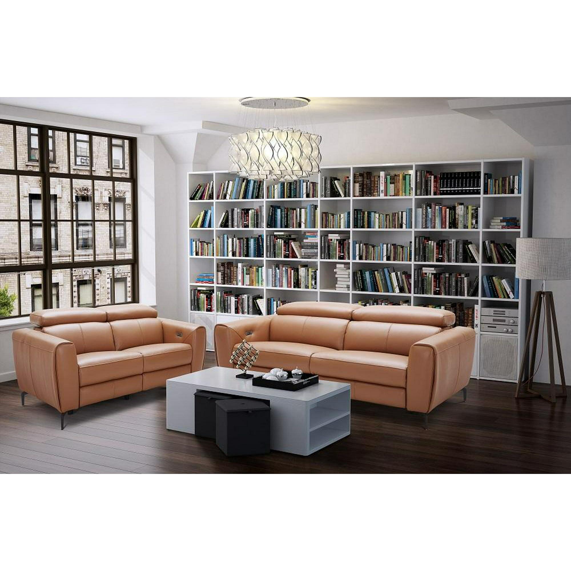 Modern Motion Living Room Sofa Set in Caramel 6Pcs J&M Lorenzo - Walmart.com