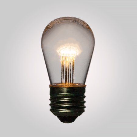 Fantado Warm White 0.7-Watt LED S14 Sign Light Bulb, Shatterproof, E26 Medium Base by PaperLanternStore