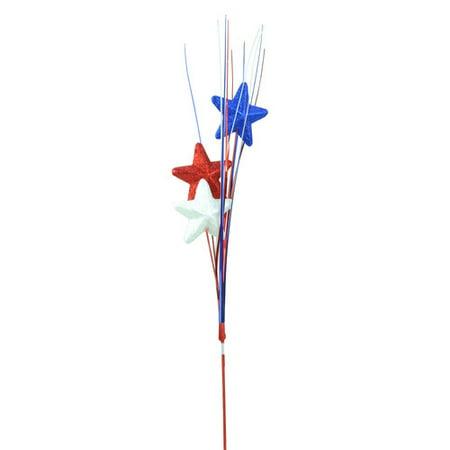 Northlight Seasonal Decorative Glitter Star Patriotic Party Pick - Party Picks