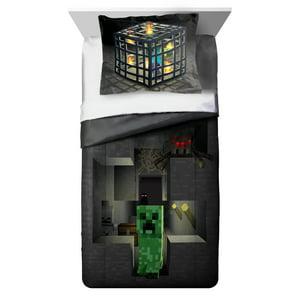 MineCraft Spawn Twin|Full Comforter and Sham 2 Piece Set