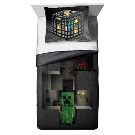 MineCraft Spawn Twin/Full Comforter and Sham 2 Piece Set