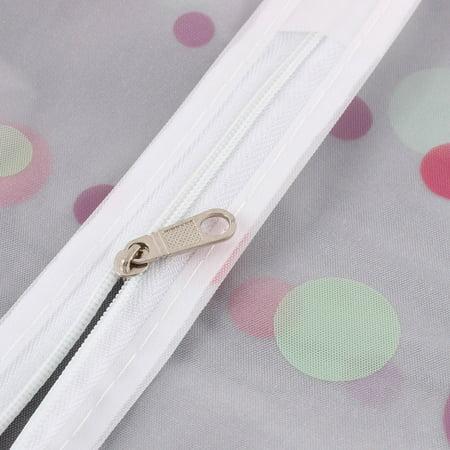 """Clothes Suit Garment PEVA Dots Printed Zip Up Dustproof Cover Bag 27"""" Length - image 2 de 4"""