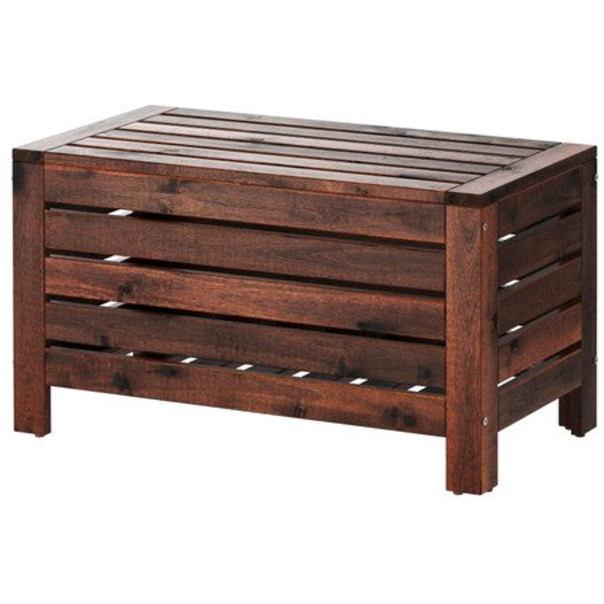 Ikea Storage bench, outdoor, brown stained brown 1626.21429.1014