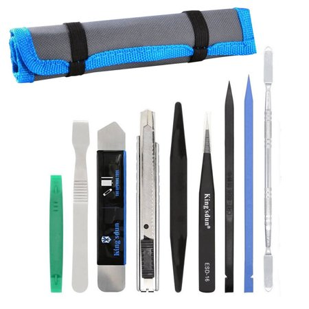 9-pack Pry Tool Repair Kit with Nylon Spudgers Anti-Static Tweezer for Smartphone (Grooming Kit Tweezer)
