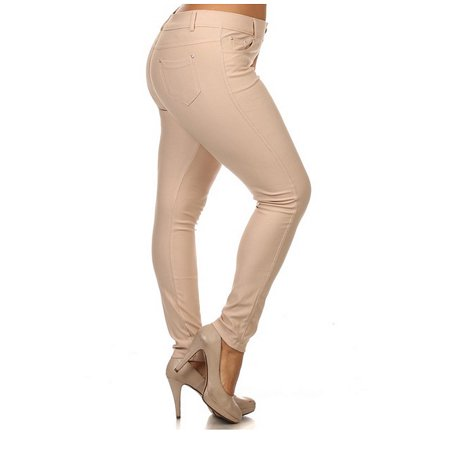 7c25be0e8b4 Enimay - Women s Jeggings Plus Size Pants Leggings Tights Skinny Jeans Pull  On Khaki XX-Large - Walmart.com