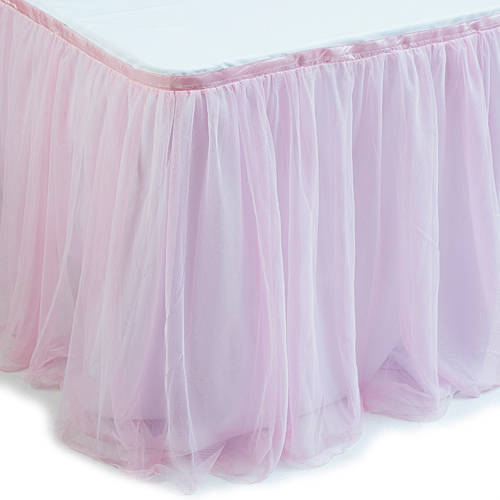 Pink Tulle Table Skirt