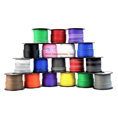 16 GA 100 FT SPOOLS PRIMARY AUTO REMOTE POWER GROUND WIRE CABLE (2 ROLLS)
