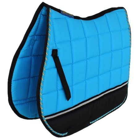 Horse Quilted ENGLISH SADDLE PAD Tack Trail Riding Turquoise