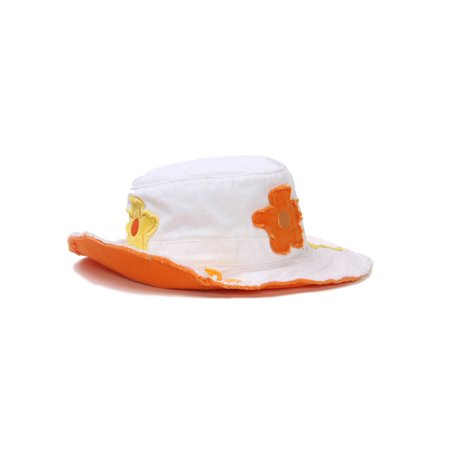 Kindercaps Youth Flower Bucket Hat - Orange - image 1 of 2 ...