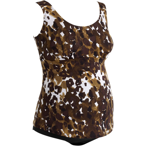 Tessuto Maternity Scoop Neck Tankini Two-Piece Swimsuit