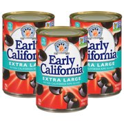 (3 Pack) Early California Extra Large Pitted California Ripe Olives 6 oz. Can