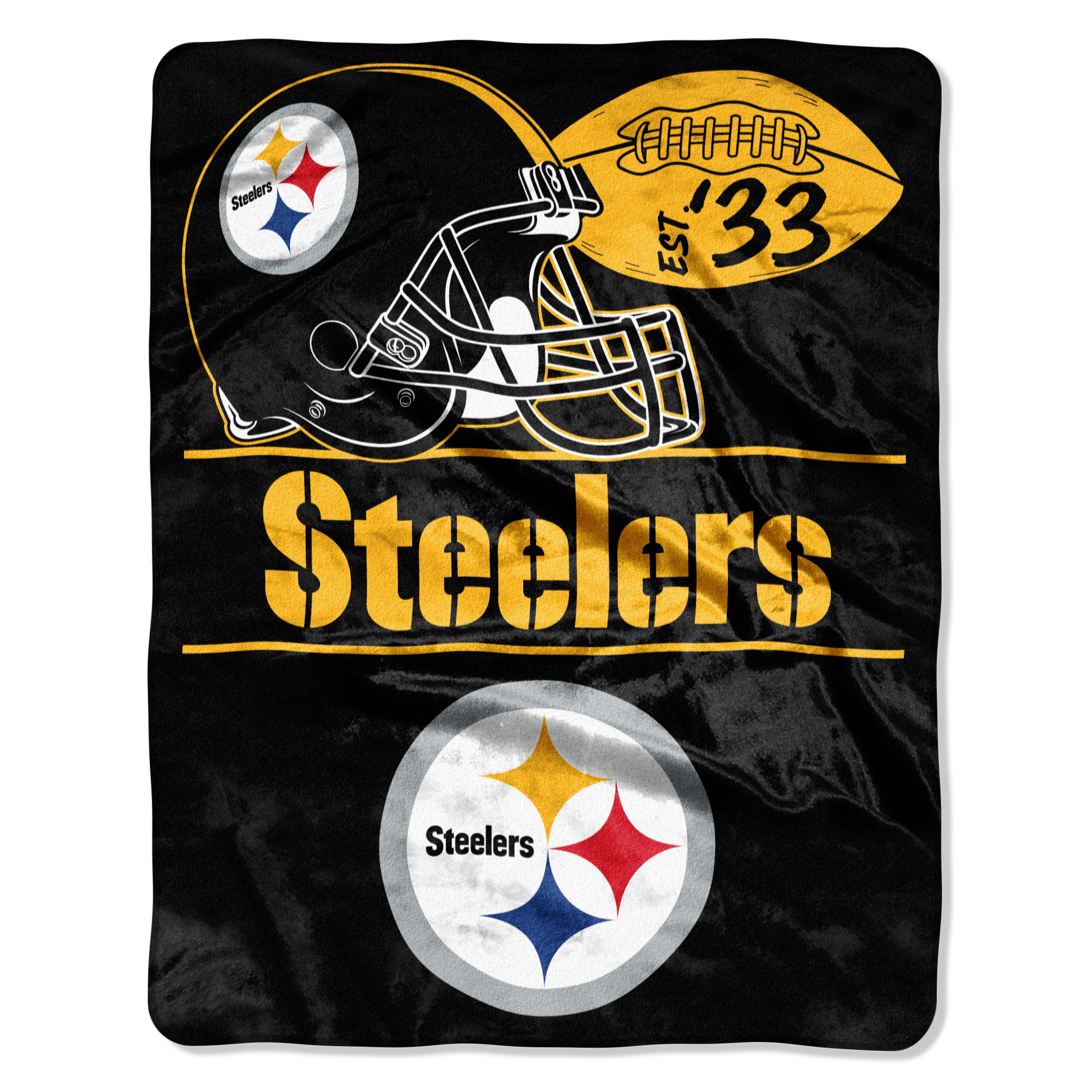 """Steelers """"Conference"""" - Silk Touch Throw Blanket, 55"""" x 70"""""""