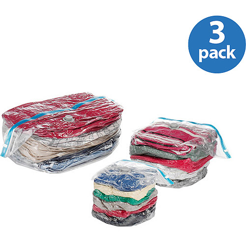 Whitmor Spacemaker Vacuum Storage Cubes, Set of 3