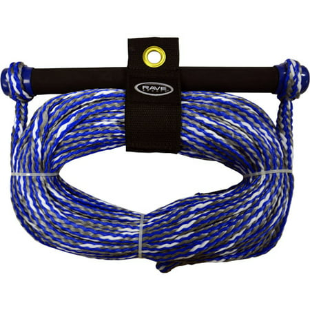 Rave Sport 75' 1 Section Ski and Tow Rope with NBR Smooth Grip Promo, Blue ()
