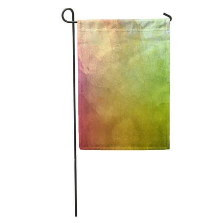 KDAGR Abstract Green Pink Glossy Glass Corner Spotlight Sunshine and Blotchy Garden Flag Decorative Flag House Banner 12x18 inch ()