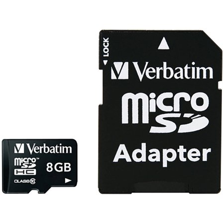 Premium West Sd Card - Verbatim 8GB Class 10 microSDHC Card with Adapter