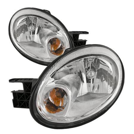 2003-2005 Dodge Neon SRT New Halogen Headlights Set w/Xenon Bulbs CH2502151 and CH2503151 Dodge Neon Crystal Headlights