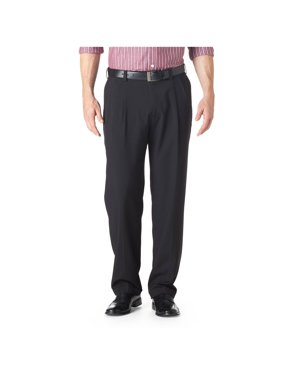 Haggar Men's E-CLO Striaght Pleat Front Dress Pant Classic Fit HD00219