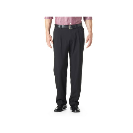 Haggar Men's E-CLO Stria Pleat Front Dress Pant Classic Fit HD00219