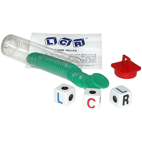 Trademark Poker Left Center Right Dice Game, Green