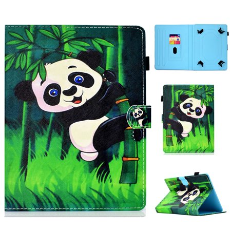 Goodest Universal 7 Inch Tablet Case, Slim Fit Stand Cards Slots Folio Cover for Galaxy Tab A 7.0/ Tab 4 7.0/ Tab J 7.0/ RCA Voyager/Huawei/ ASUS/Lenovo/ Fire 7 and All 6.5-7.5