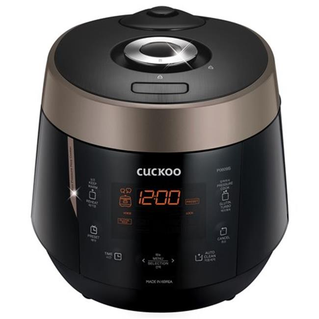 Cuckoo CRP-P0609S 6 Cup Electric Pressure Rice Cooker, Black - 120V