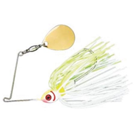 Booyah Tandem Blade, White Chartreuse, 3/8-Ounce Multi-Colored