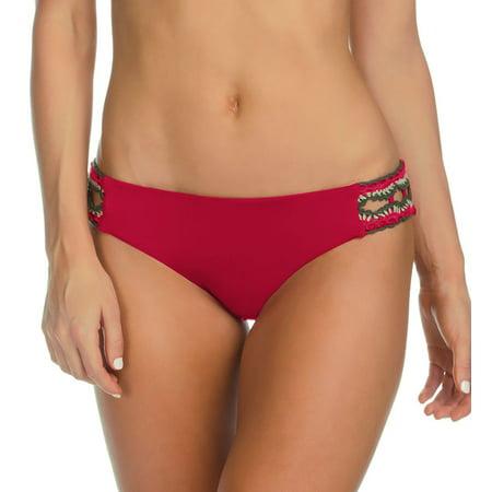 Women's Becca 944387 Medina American Split Tab Crochet Swim Bottom ()