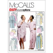 McCall's Pattern Misses' Robe, Nightgown or Top and Pull-On Pants or Shorts, Z (XL, XXL)