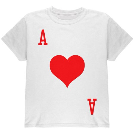 Halloween Ace of Hearts Card Soldier Costume All Over Youth T Shirt](Short Halloween Card Sayings)