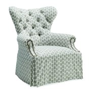 Skirted Wing Chair in Gray