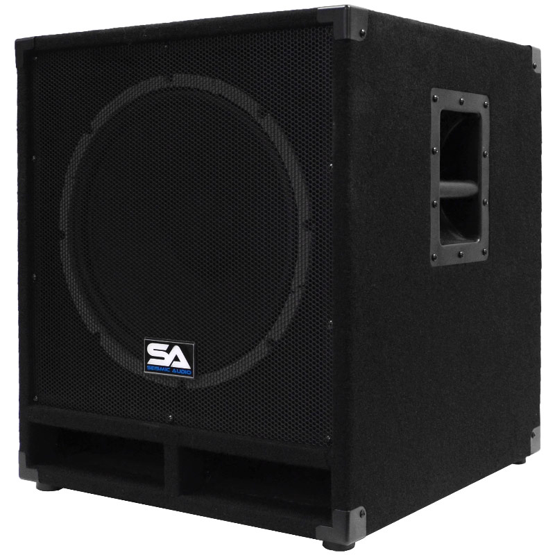"Seismic Audio Powered 15"" Subwoofer Cabinet PA DJ PRO Audio Band Speaker - Active 15 Inch Sub - Baby-Tremor_PW"