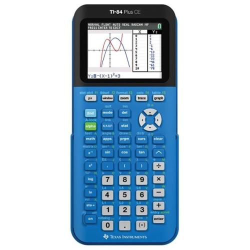 Texas Instruments TI-84 Plus CE  Color Graphing Calculator Blue