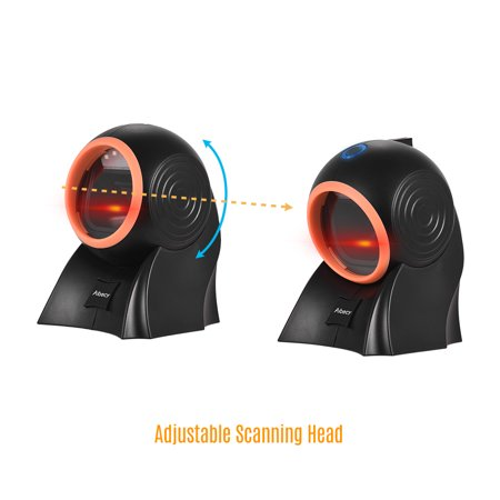 Aibecy Desktop Hands-free 1D 2D QR Barcode Scanner with USB Cable Omni-directional Bar Code Reader Adjustable Scanning Head for Mobile Payment Supermarket Retail Store Warehouse - image 4 of 7