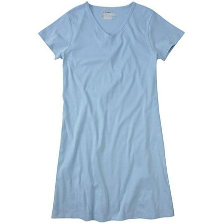 Hanes - Hanes - Women s Plus Organic Cotton Sleep Shirt - Walmart.com e2b7cc96e7ca
