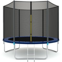 Gymax 10 FT Trampoline Combo Bounce Jump Safety Enclosure Net W/Spring Pad Ladder