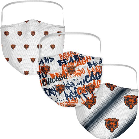 Chicago Bears Fanatics Branded Adult Official Logo Face Covering 3-Pack