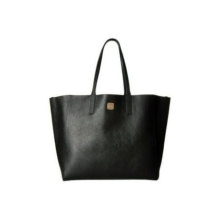 Leather Medium Shopper - BRAND NEW WOMEN'S MCM WANDEL PEBBLED LEATHER MEDIUM SHOPPER TOTE HAND BAG (Black)