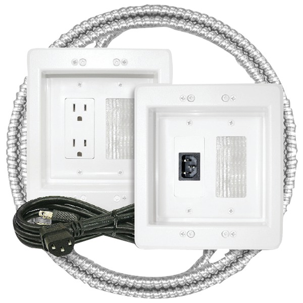 MIDLITE 22APJW-7R-MC Power Jumper(TM) HDTV Power Relocation Kit (Includes Pre-Wired Metal Clad Cable)
