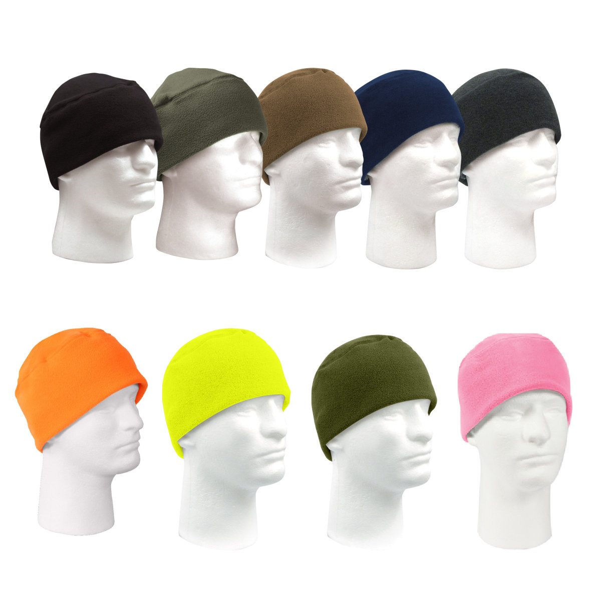 Warm Polar Fleece Military Style Watch Cap or Beanie